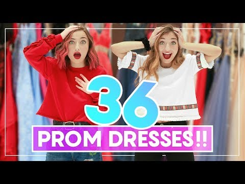 Xxx Mp4 WE TRiED ON 36 PROM DRESSES Can You Guess Our Favorites Prom 3gp Sex