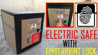Wow Amazing Homemade Safe with Finger Print Lock from Cardboard (How To Make) .