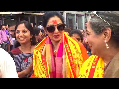 Xxx Mp4 Sridevi Visits Siddhivinayak Temple To Seek Blessings For Upcoming Movie Mom 3gp Sex
