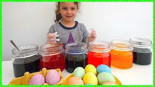 Decorating Easter Eggs, Learn Colors with Easter Eggs