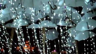 The Wet Dream Umbrella LED Rain Art at Burning Man 2011