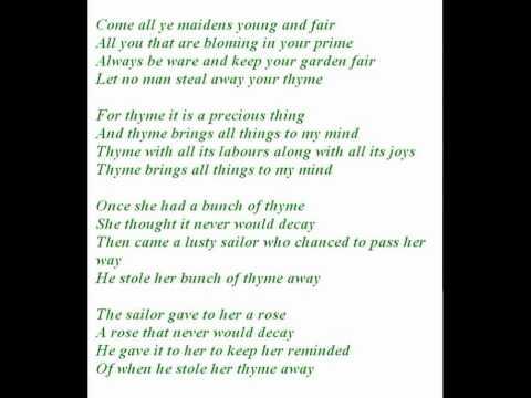 Foster & Allen ~ Bunch of Thyme - original version