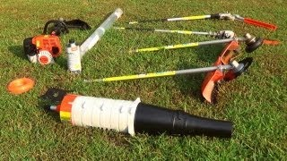 Stihl KM130R Kombi System 4 Mix Gas Trimmer and Attachments