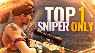 TOP 1 ► DÉFI : SNIPER ONLY !! (FORTNITE Battle Royale fr pc & ps4)