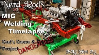 Weld it yourself Task Force Truck Frame, MIG Welding Timelapse and D3 Update, Chevy and GMC 1955-59