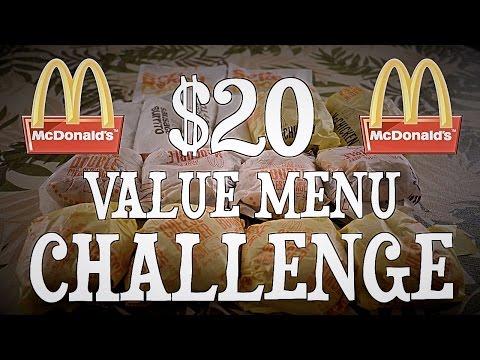 watch MCDONALD'S $20 VALUE MENU CHALLENGE