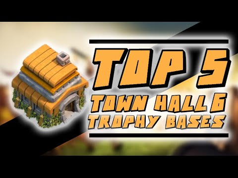 Clash of Clans - Top 5 Town Hall 6 Trophy / Hybrid Bases