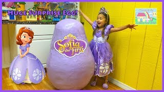 World's Biggest SOFIA THE FIRST EGG SURPRISE OPENING Disney Junior Toys Doll Play-Doh Surprises