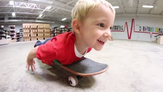 How to Belly Skateboard (By a 3 Year Old)