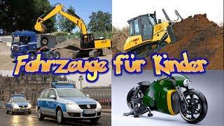 Bagger Autos und Fahrzeuge lernen für Kinder auf Deutsch 🚒 Rennwagen , Bulldozer - Video für Kinder