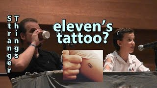 Stranger Things eleven's Tattoo Q&A Millie Bobby Brown & David Harbour Phoenix Comicon
