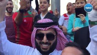 حصري/ شاهد ماذا فعل مشجعون مغاربة بتركي آل شيخ في روسيا