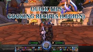 Where can I find cooking recipes in Legion?