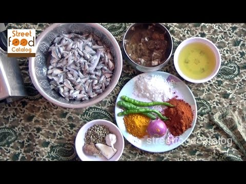 How to Cooking Small Fish Curry Village style - Chepala Pulusu Recipe - Street Food Catalog 2016