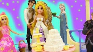 Disney Princess Fairytale Wedding Gift Set Rapunzel Flynn Mini Barbie Doll