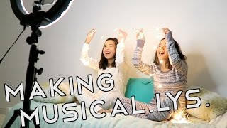 HOW WE MAKE MUSICAL.LYS! (VLOG) | Caleon Twins