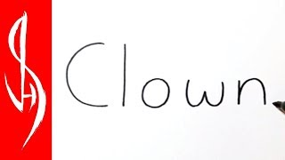 Very Easy! How to Turn Words Clown into a Cartoon #30