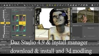 How to download and install Daz Studio 4.9 and Install maniger free and activate