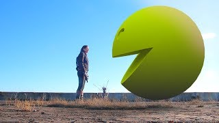 Pacman 3d in real life (movie, game war and the ghostly adventures blitzwinger pac man 3d in humor