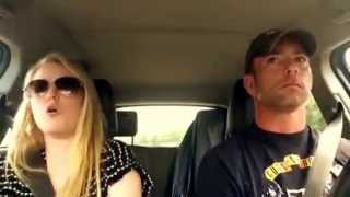Dad and Daughter road trip lip sync --Timber