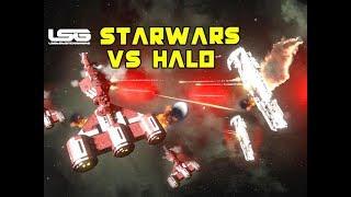 Consular Cruiser VS UNSC Strident Battle - Space Engineers
