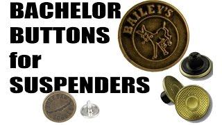Learn how to attach suspender bachelor buttons - super easy