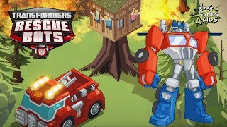 Fire-Bot Mission w/ HEATWAVE | Transformers Rescue Bots: Hero Adventures #74 By Budge