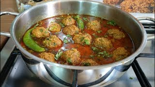 Kofta curry recipe | restaurant-style mutton kofta curry