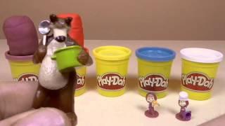 Masha i Medved Play-Doh Surprise eggs unboxing stop motion Маша и Медведь PlayDoh сюрприз яйца