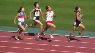 ジュニアオリンピック陸上 C女子 800m 準決勝-1 Women 11-12 y/o Semi Final-3 Jr.Olympic Track Athlete Japan 2015.10.25