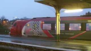 Half an Hour at (9) - Llandudno Junction Station 8.2.2014 Class 150 175 221