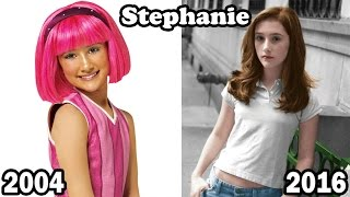 LazyTown THEN and NOW | Lazy Town Antes y Despues 2016