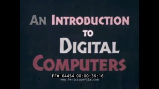 REMINGTON RAND UNIVAC  INTRODUCTION TO DIGITAL COMPUTERS  1960s MAINFRAME COMPUTING FILM  64454