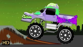 Monster Truck Car Wash | Scary Car Wash Halloween Videos | Shemaroo Kids
