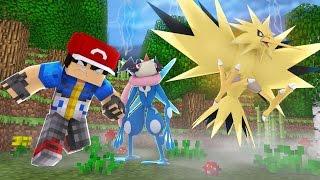 Minecraft: Acampamento Pokemon X Y - ONDE ESTÁ SERENA? ZAPDOS O LENDÁRIO ! #25