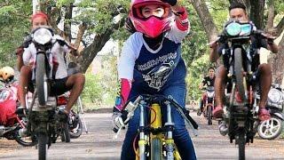 keren! WiWi MUNGILS Hebat Banget Joki Cewek Cantik Drag Bike