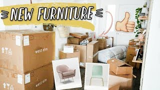 UNBOXING FURNITURE FOR THE NEW HOUSE! (aka I bought way too much stuff)