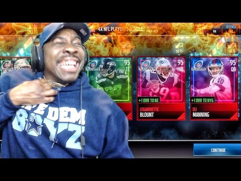 NFL PLAYOFFS PACK OPENING & NEW HEROES SETS! Madden Mobile 17 Gameplay Ep. 16