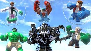 LEGO Marvel Big Characters Transformations (Lizard, Hulk, Red Hulk, Venom, A-Bomb, Stan Lee)