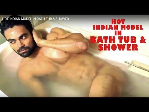 HOT INDIAN MODEL IN BATH TUB & SHOWER