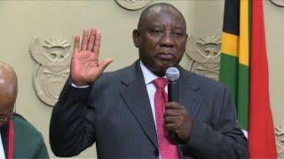 Ramaphosa presta juramento