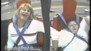 HILARIOUS! Fat Kid On Slingshot Ride (HELP ME, JANICE!)