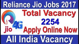 # Reliance Jio Job #Private Job All India Vacancy Apply online last Date December 2017