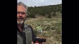 CZ 2075 BD RAMI 9mm pistol at 100 yards shooting steel.