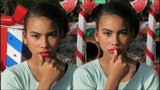 Holiday Glam Makeup Look + FAUX FRECKLES || Nikki Bruner