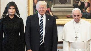 Pope Francis Jokingly Asks Melania What She's Feeding Donald Trump