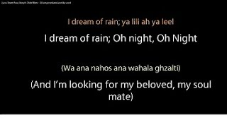 Desert Rose Lyrics - Sting ft. Cheb Mami (ALL WORDS in Arabic + English and translation)