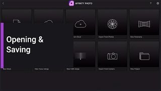 Opening & Saving (Affinity Photo iPad)