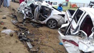 حوادث سيارات خطيرة