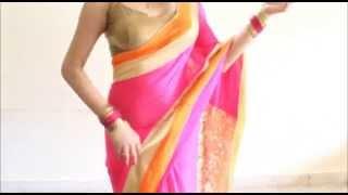 How To Drape A Saree & Look Extra Slim n Tall:Indian Sari Wearing Step